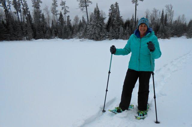 sharon brodin snowshoeing