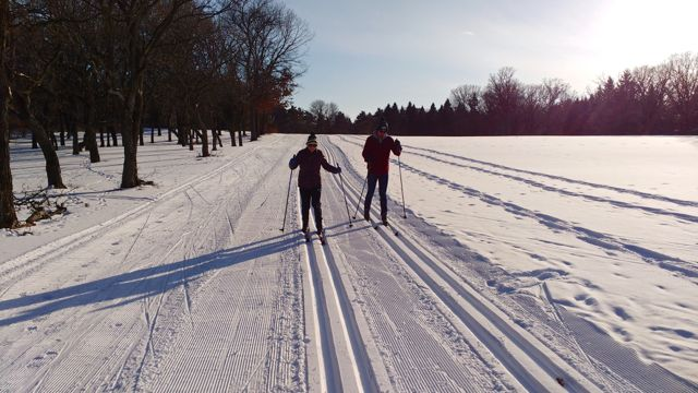 cross country skiing at bunker park