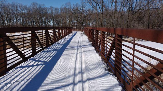 bridge at chomonix ski trail