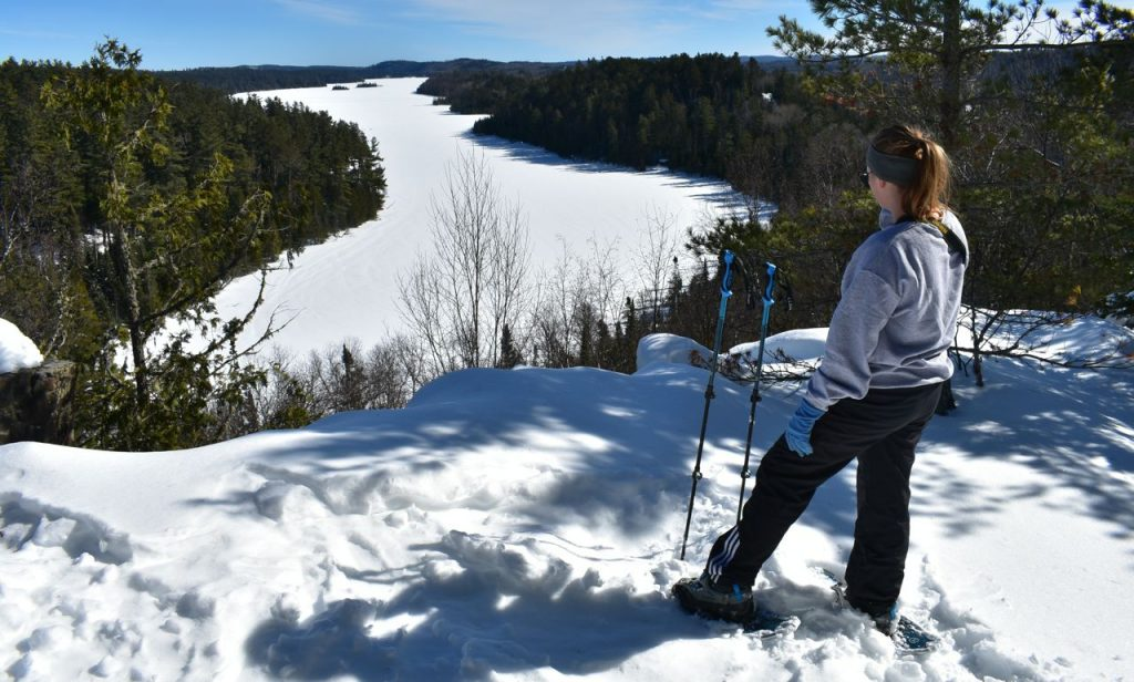 snowshoeing in nature