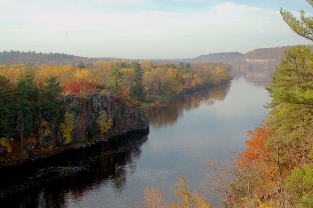 st croix river in autumn