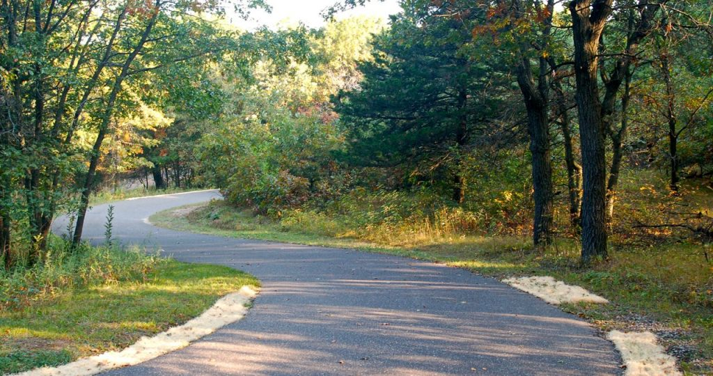 bike trail at bunker park