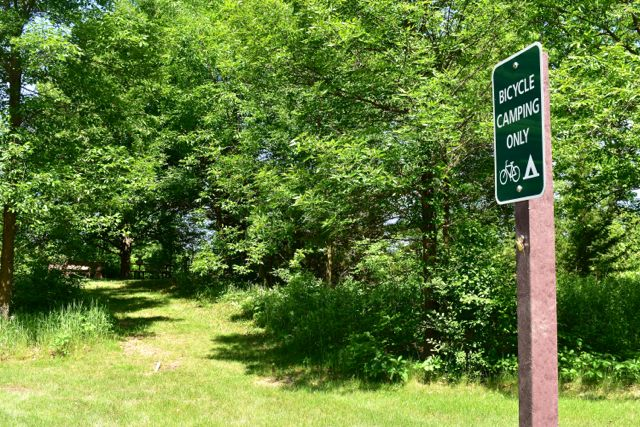 biker only campsite auburn lake campground carver park reserve