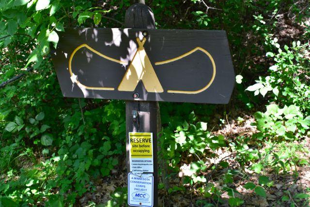 canoe campsite sign