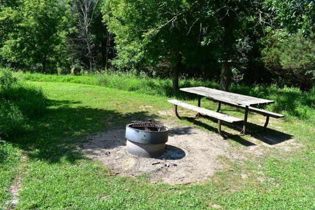campsite afton state park