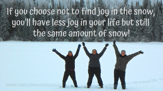 find joy in the snow