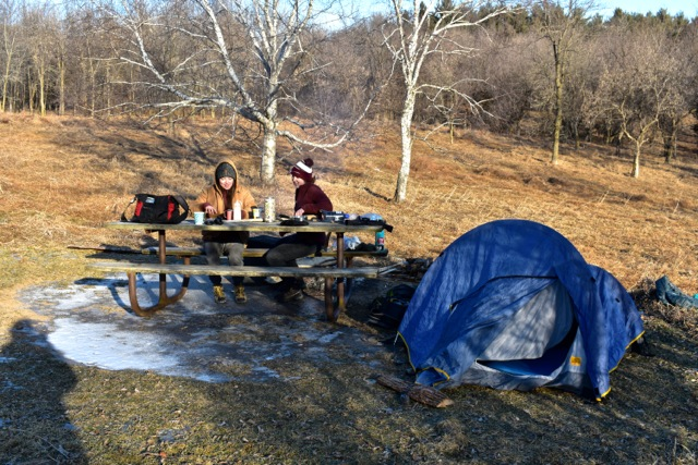 winter camping afton state park