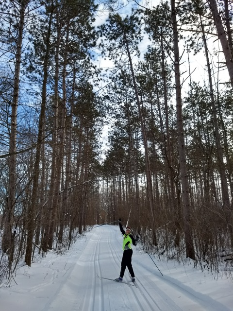 cross country skiing in Wild River State Park