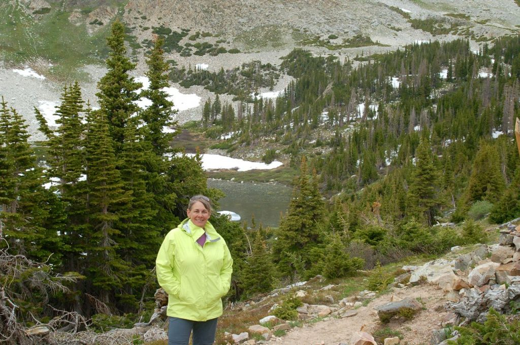 Marmot PreCip Jacket on a hike