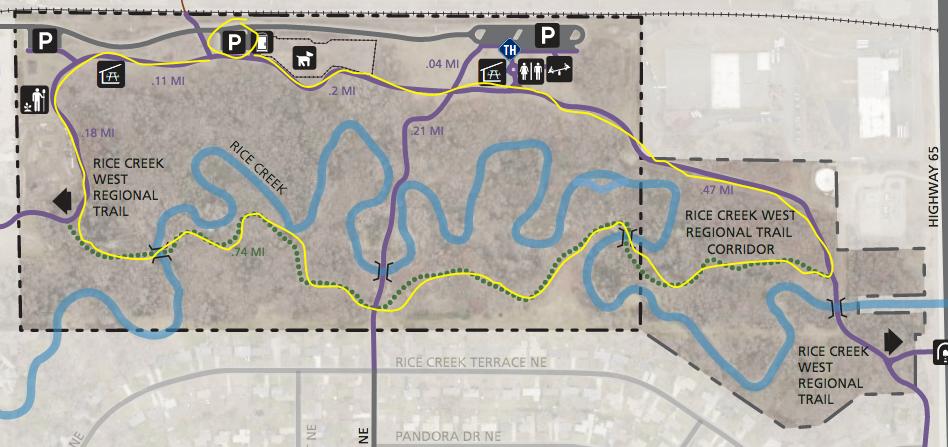Locke County Park trail map