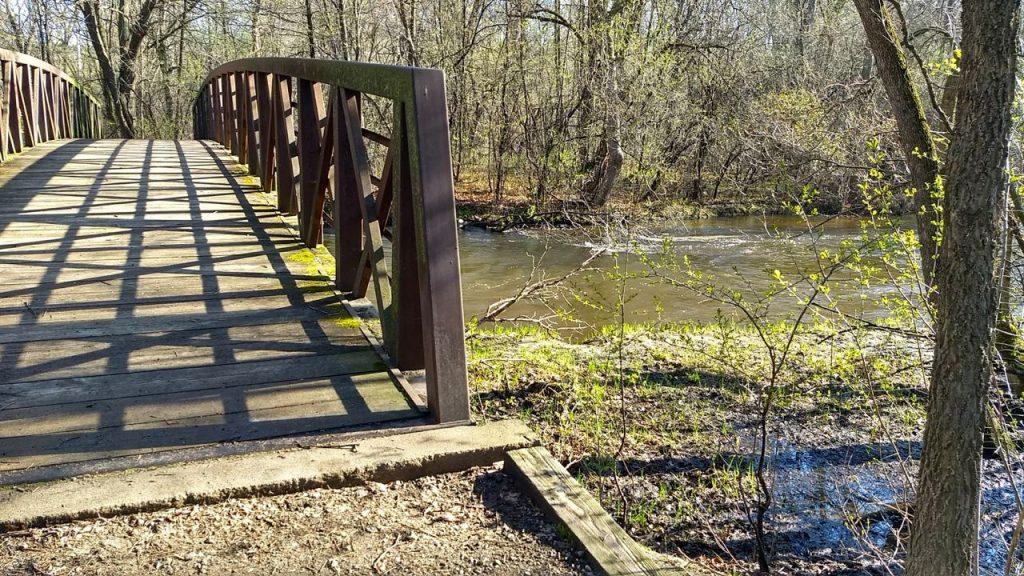 footbridge over rice creek