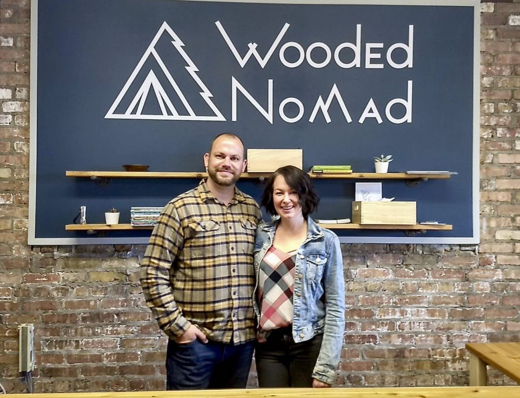 Wooded Nomad owners Jesse and Erin King
