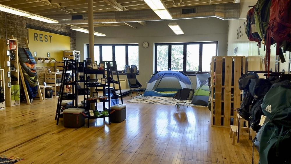 Wooded Nomad outdoor gear rental shop