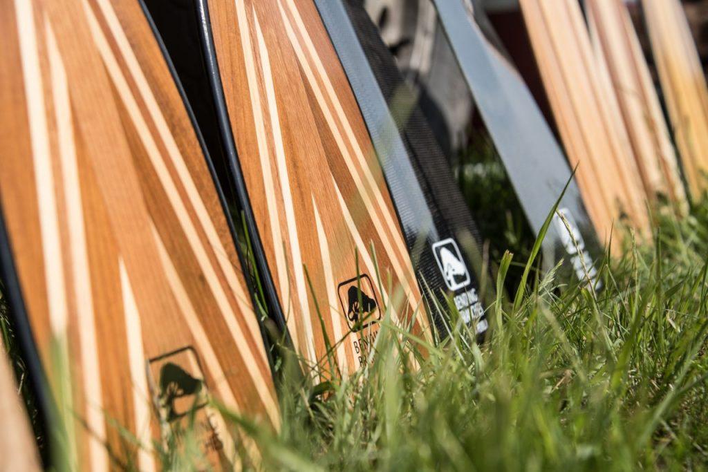 bending branches' canoe paddles