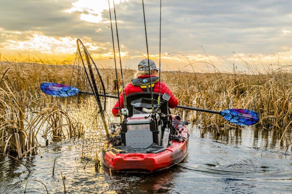 kayak angler with angler pro paddle