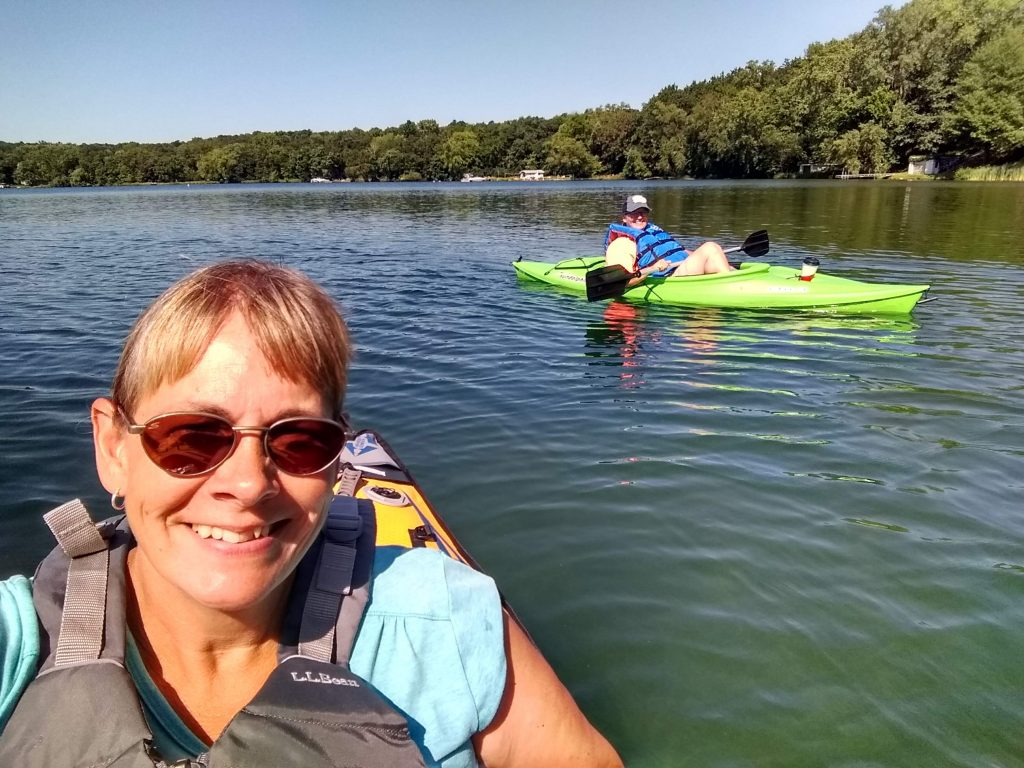 kayaking on square lake
