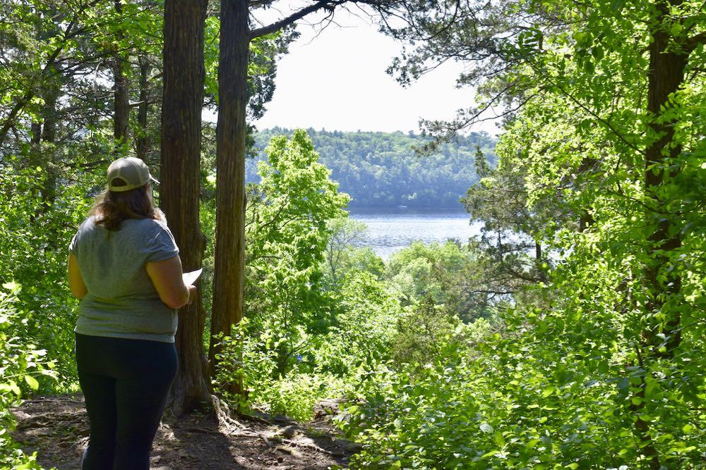 hike st croix bluffs, overlook