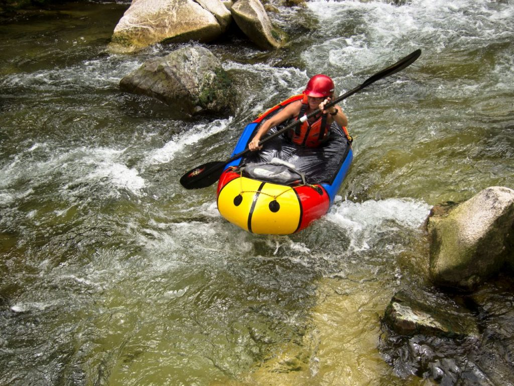 packrafting a river