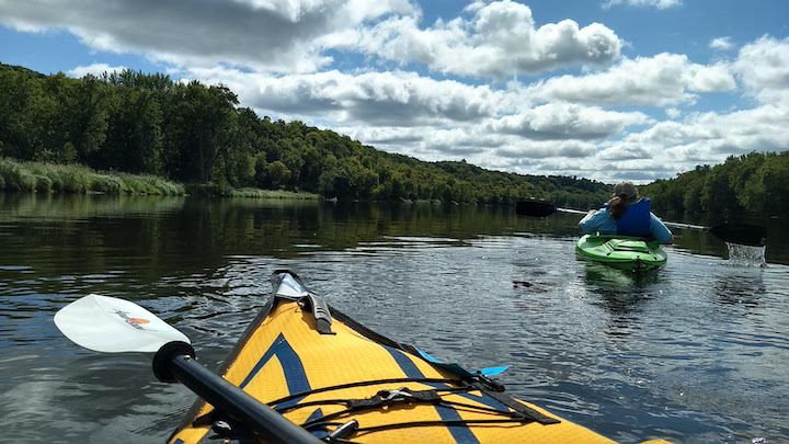 kayakers on st croix river