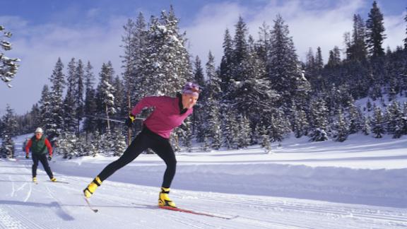 cross country skate skiers