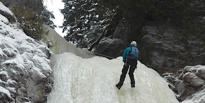 ice climbing with stone harbor wilderness supply