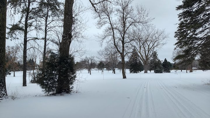 ski trails at green haven golf course