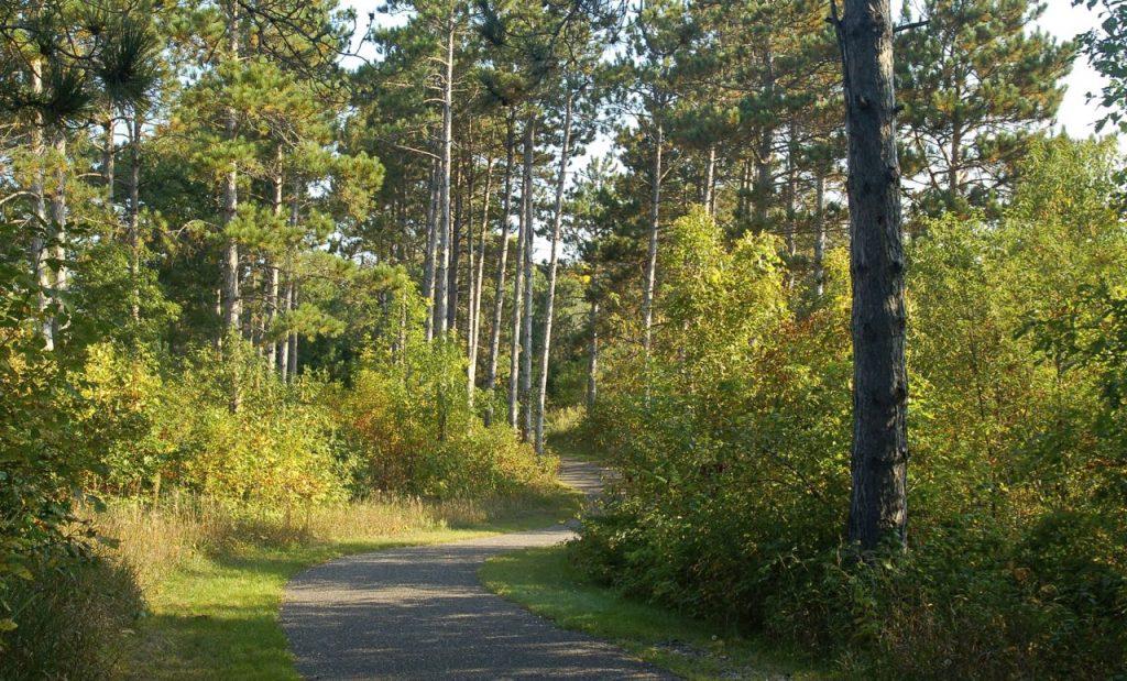 bike path, bunker hills regional park