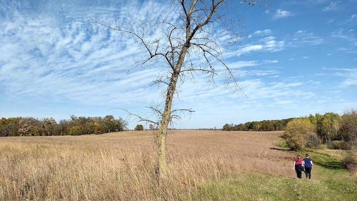 hiking over the prairie