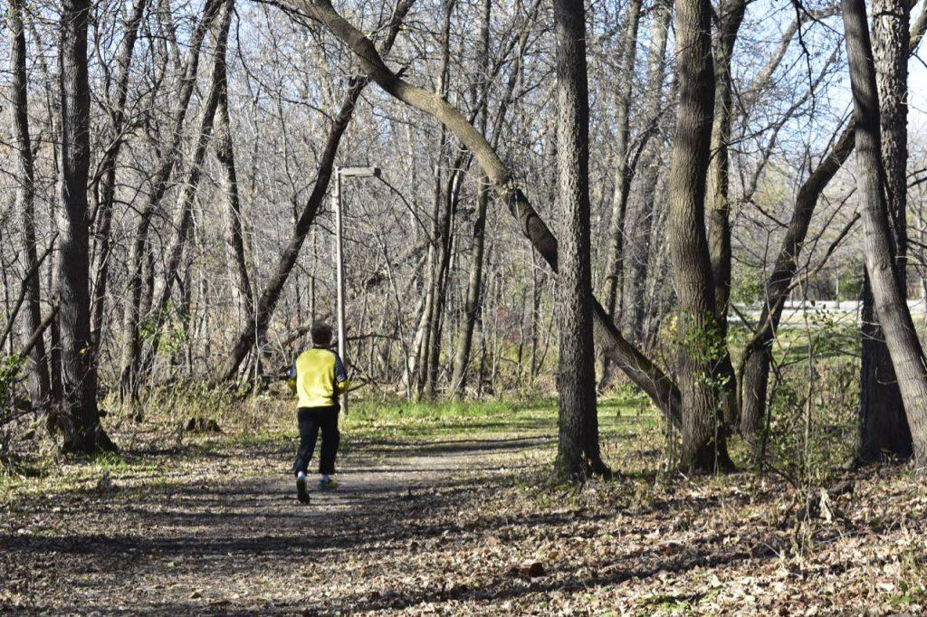 trail runner, french regional park