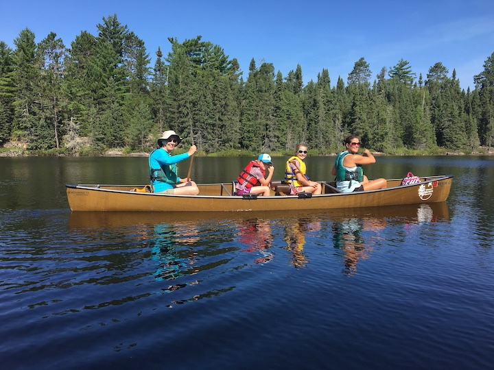 Women canoeing in the Boundary Waters