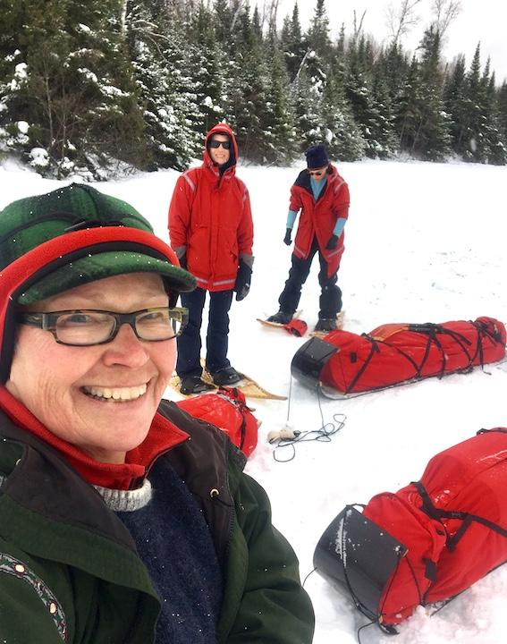 Peta Barrett with winter campers