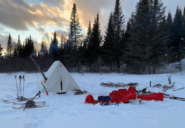 Winter camping in the Boundary Waters with Women's Wilderness Discovery
