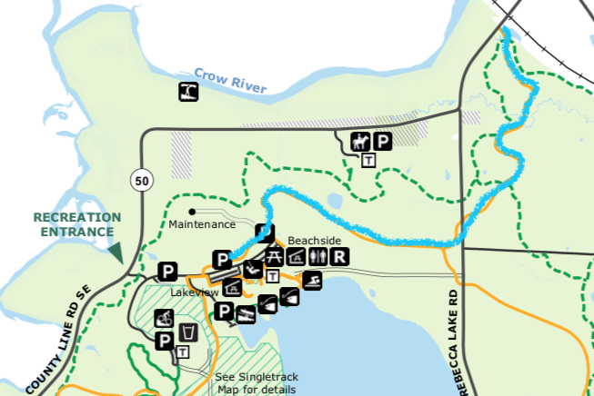 trail map lake rebecca