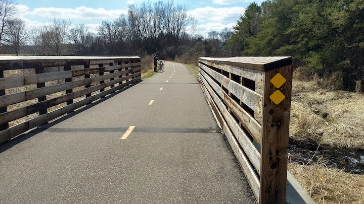 brown's creek state trail bridge