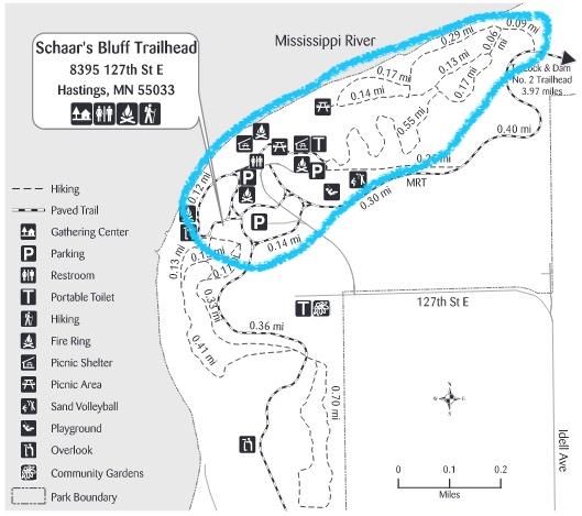 schaars bluff trail map