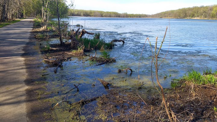 crosby lake at the bike trail
