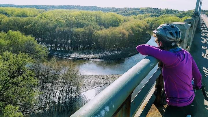 view from mendota bridge