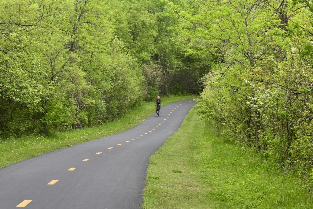 biking in elm creek park reserve