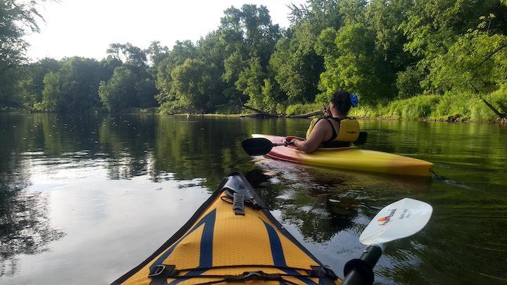 kayaking the rum river