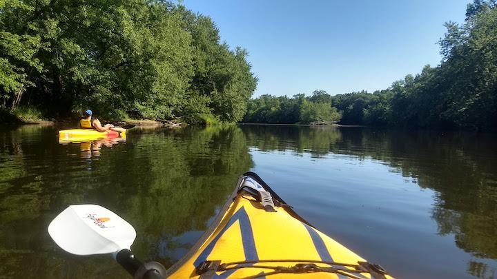a calm rum river