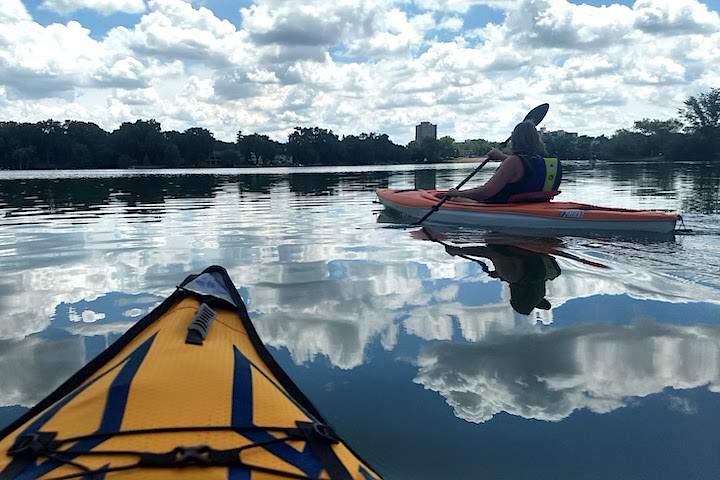 kayaking cedar lake