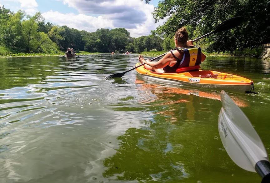 kayaking the minneapolis chain of lakes