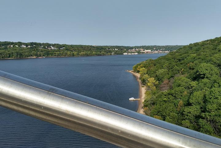 st croix river from hwy 36 bridge