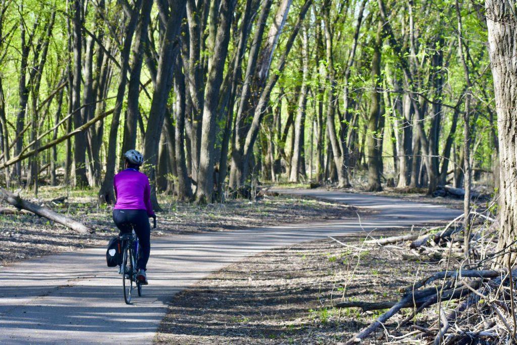 bike trails crosby farm regional park