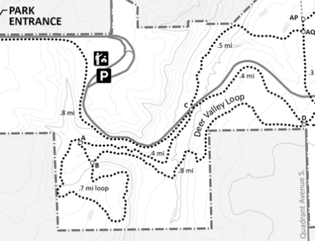 deer valley loop winter map
