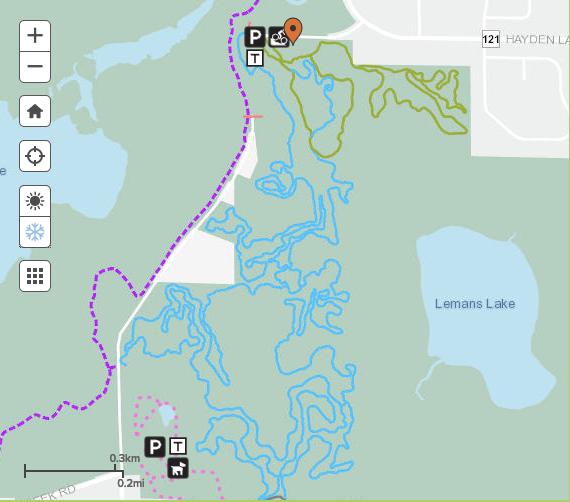winter singletrack map elm creek