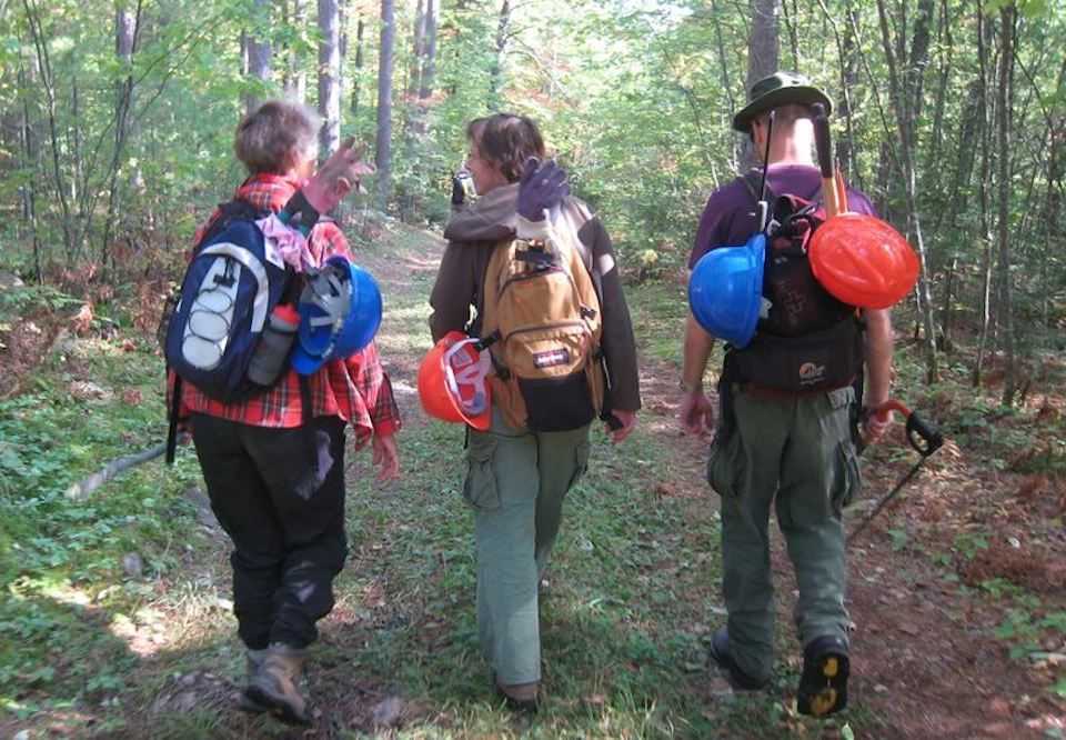 nsstc members on trail maintenance