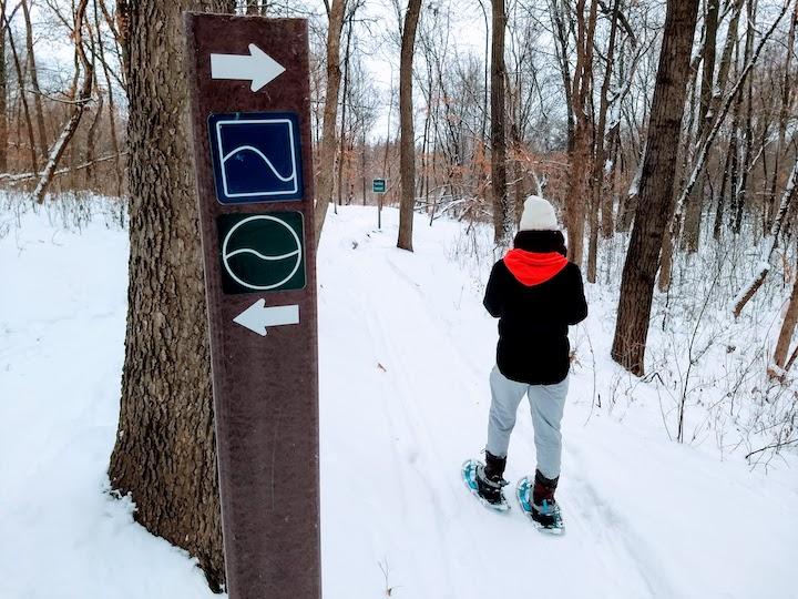 snowshoeing elm creek park reserve