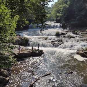 Hiking in Willow River State Park, Wisconsin