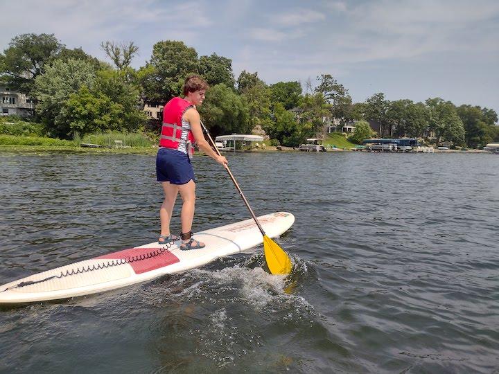 SUPing on fish lake